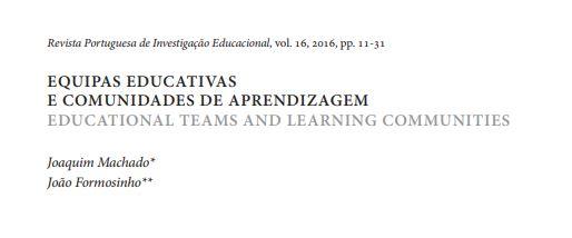 Equipas educativas e comunidades de aprendizagem