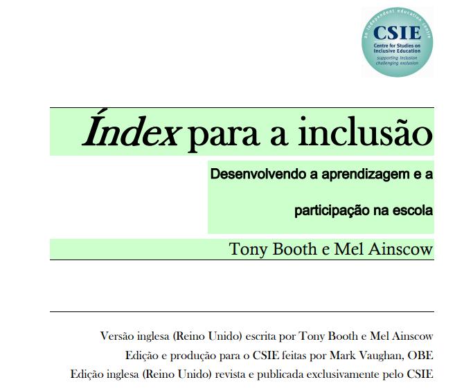 Índex para a Inclusão: Desenvolvendo a aprendizagem e a participação na escola