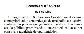 Decreto Lei n.º 55/2018, 6 de julho