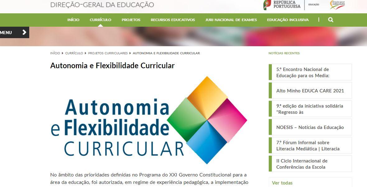Projeto de Autonomia e Flexibilidade Curricular