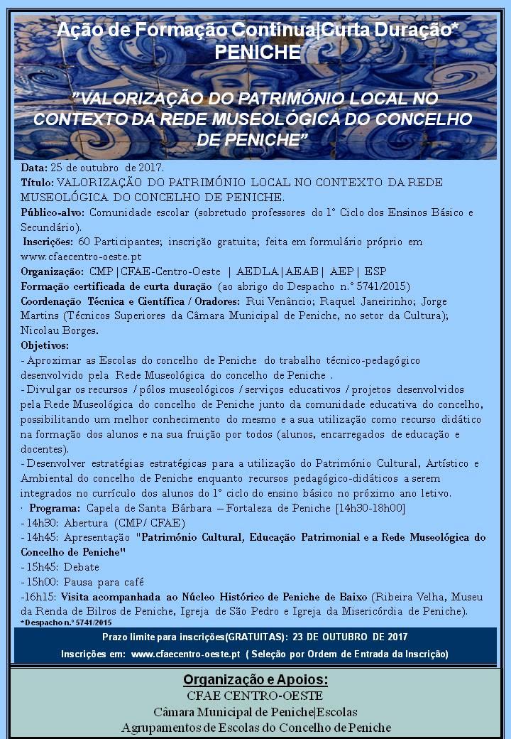 17NF2017 - Valorização Do Património Local No Contexto Da Rede Museológica Do Concelho De Peniche